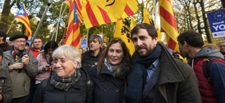 Actualite Actualite Des indépendantistes catalans, rassemblés à Bruxelles, interpellent l'UE