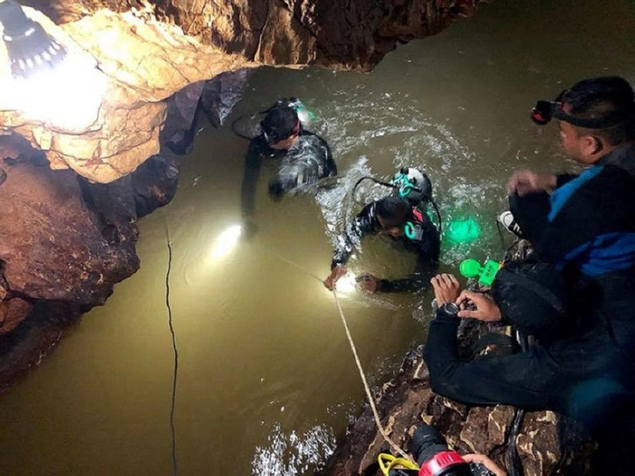 Actualite Actualite Enfants dans une grotte en Thaïlande: tout le groupe a été évacué sain et sauf
