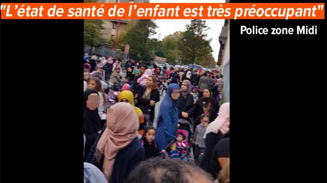 Actualite Actualite Anderlecht: manifestation devant une école après la chute d'un enfant dans un étang
