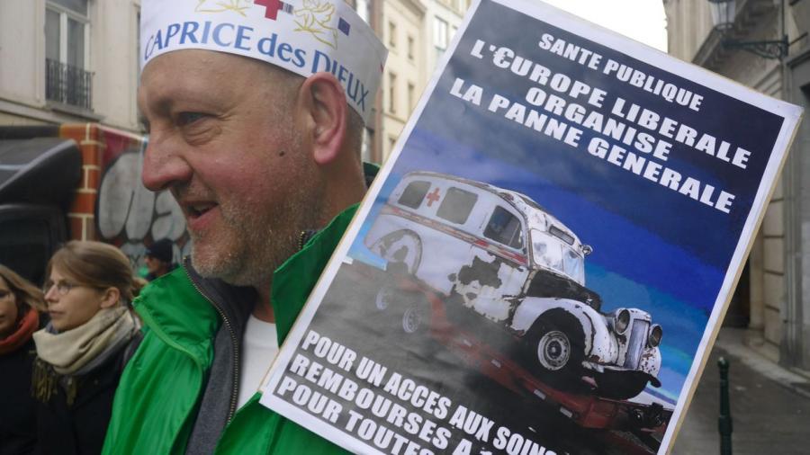 Actualite Actualite Environ 600 manifestants à Bruxelles contre la commercialisation de la santé en Europe
