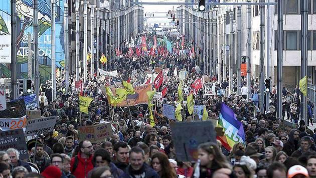 Actualite Actualite Marche pour le climat. «Seulement» 8 000 personnes dans les rues de Bruxelles