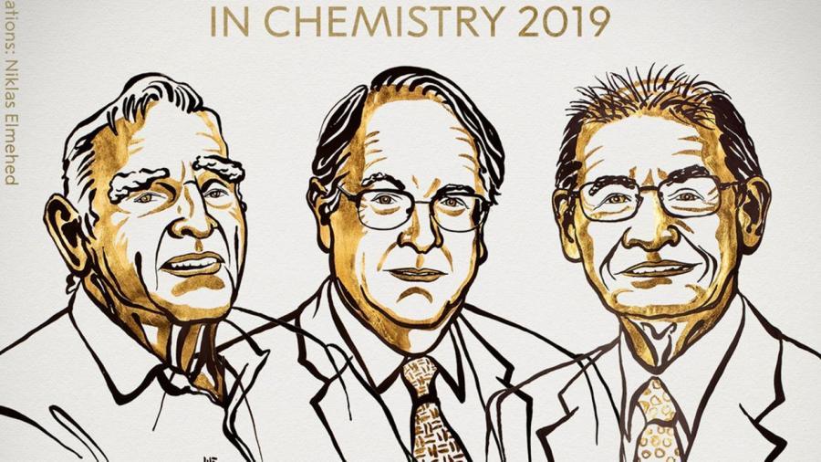 Actualite Actualite Le prix Nobel de chimie attribué à un Anglais, un Américain et un Japonais pour le développement de batteries lithium-ion