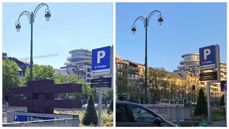 culture Culture Quand Interparking fait enlever une sculpture de Moeschal, Bruxelles se fâche et dresse un p.-v.